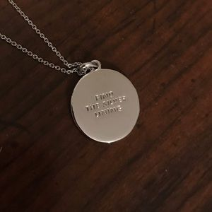 "Kate Spade ""Find The Silver Lining"" Disc Necklace"
